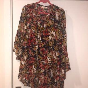 Umgee Bell sleeves Floral dress